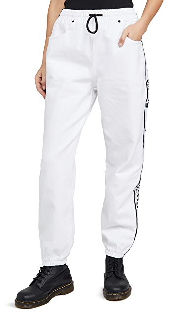 Denim x  Alexander Wang Denim Track Pants