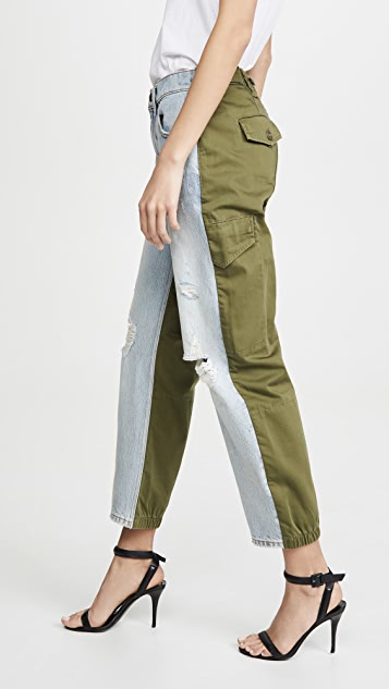 Denim x  Alexander Wang Slack Mix Pants