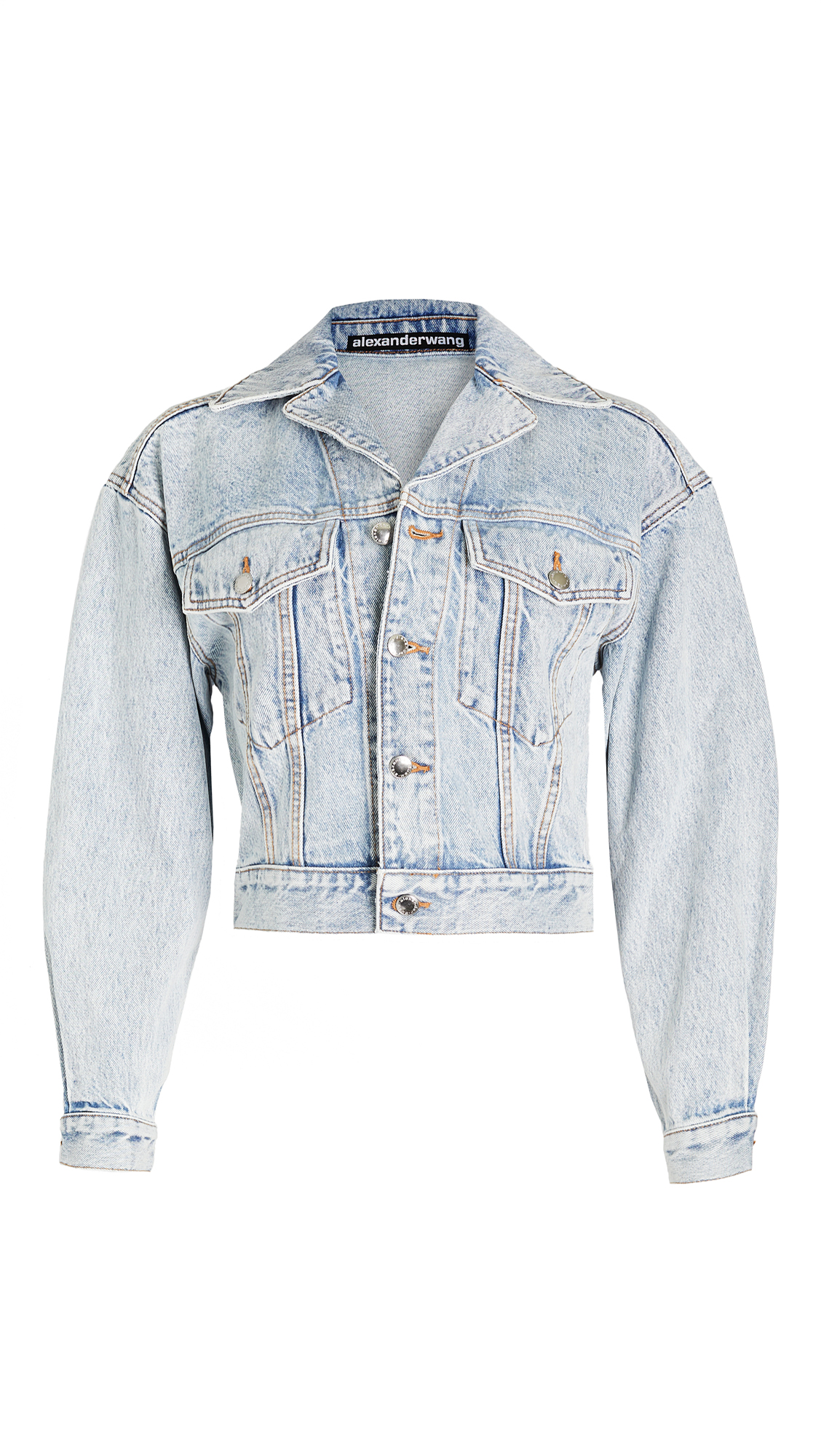 Denim x Alexander Wang Lapel Collared Jacket