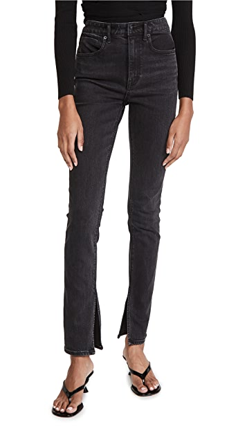 Denim x  Alexander Wang Stovepipe Dipped Back Jeans