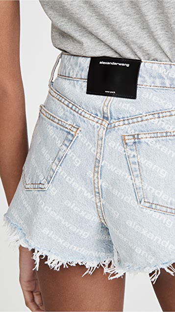 Denim x  Alexander Wang Bite High Rise Shorts