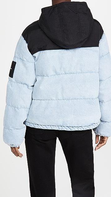 Denim x  Alexander Wang Puffer Hybrid 夹克