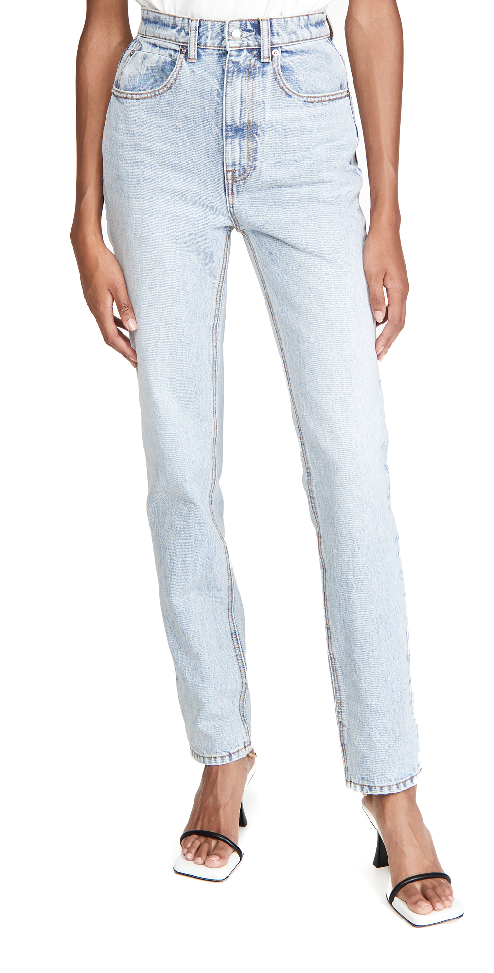 High Waist Slim Stacked Jeans