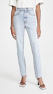 Denim x  Alexander Wang High Waist Slim Stacked Jeans