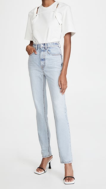 Denim x  Alexander Wang High Waist Slim Stacked Jeans