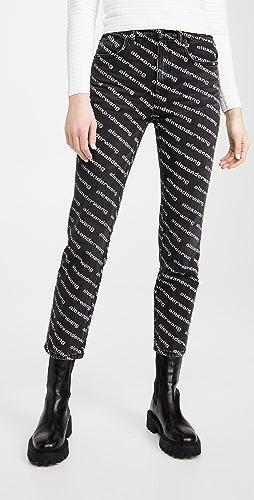 Denim x  Alexander Wang - High Rise Slim Jeans