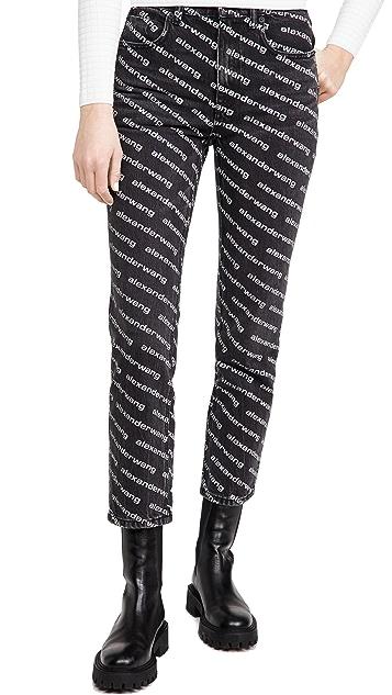 Denim x  Alexander Wang High Rise Slim Jeans