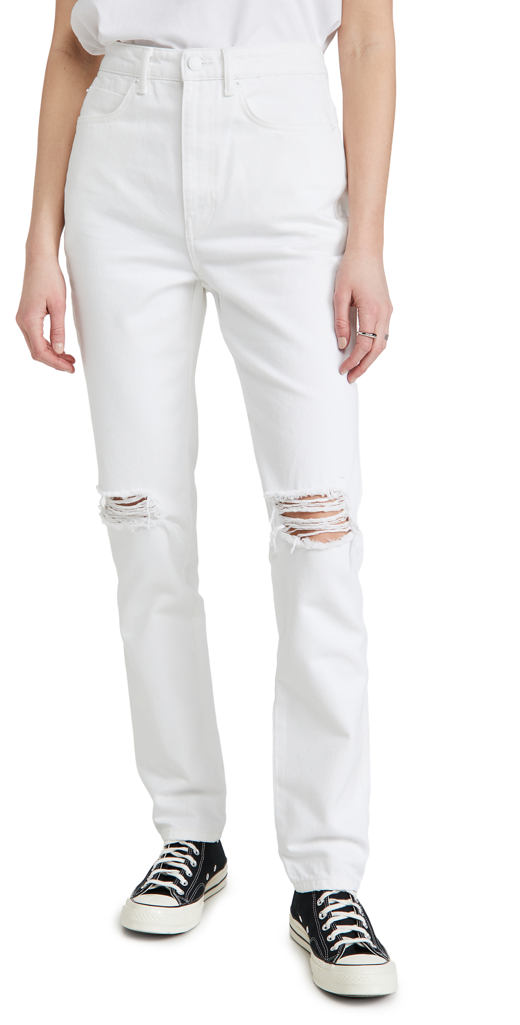 High Waist Jeans with Dipped Back