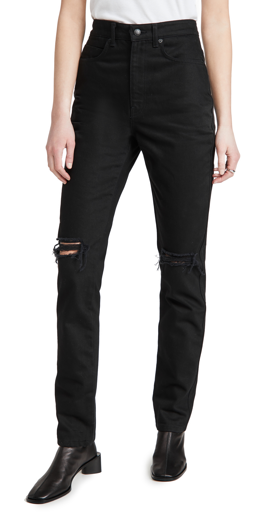 Alexander Wang HIGH WAIST JEANS WITH DIPPED BACK
