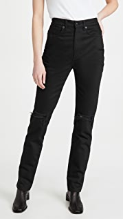 Denim x  Alexander Wang High Waist Jeans with Dipped Back