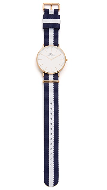 Daniel Wellington Glasgow 40mm Watch with Nato Strap