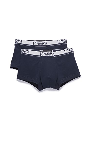 Emporio Armani 2 Pack Stretch Cotton Trunks