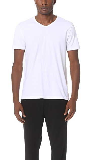 Emporio Armani 3 Pack Genuine Cotton V Neck Tees