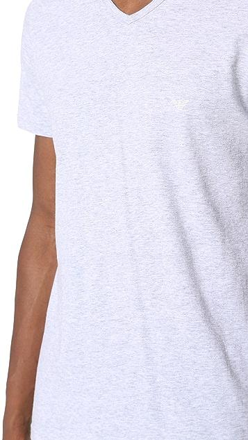 Emporio Armani 3 Pack Genuine Cotton V Neck Tees