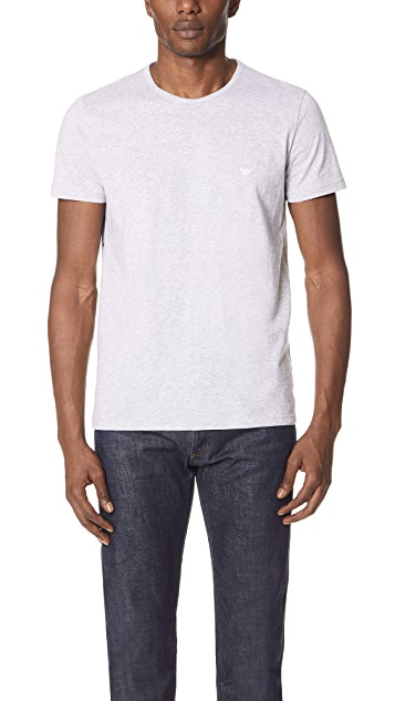 Emporio Armani 3 Pack Genuine Cotton Crew Neck Tees