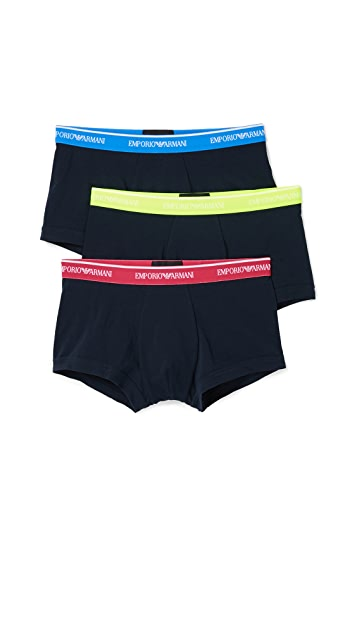 Emporio Armani 3 Pack Core Logoband Trunks