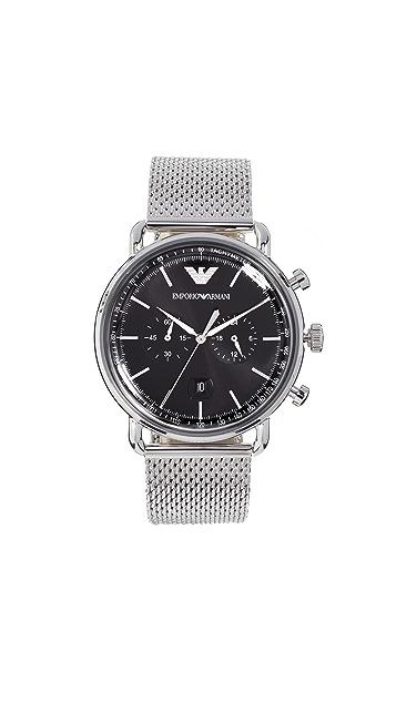 Emporio Armani Aviator Watch, 43mm