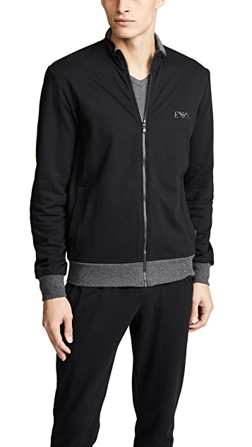 Emporio Armani Melange Terry Zip Sweater