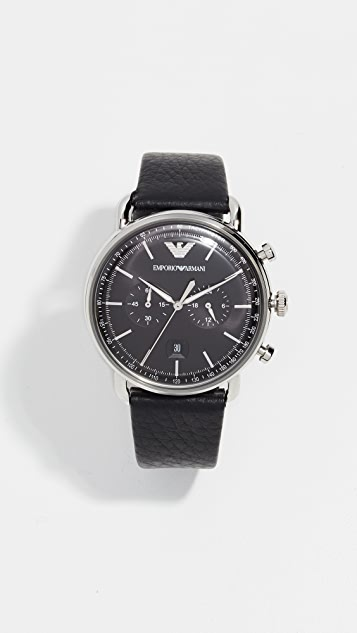 Emporio Armani Aviator Watch, 43mm