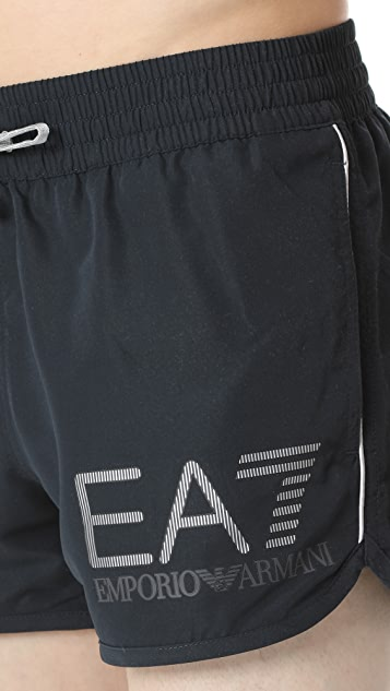 EA7 by Emporio Armani Track Stripe Logo Trunks