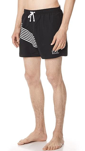 EA7 by Emporio Armani SW 7 Lines Swim Shorts