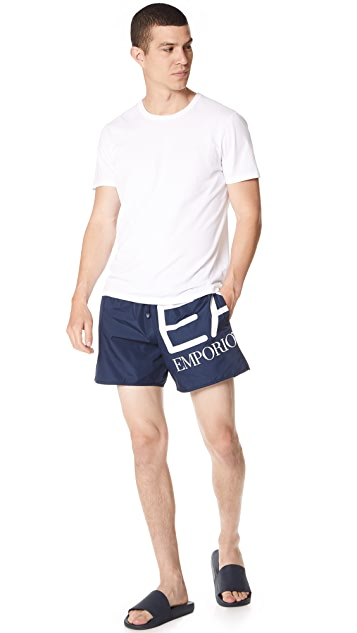EA7 by Emporio Armani Big Logo Swim Trunks