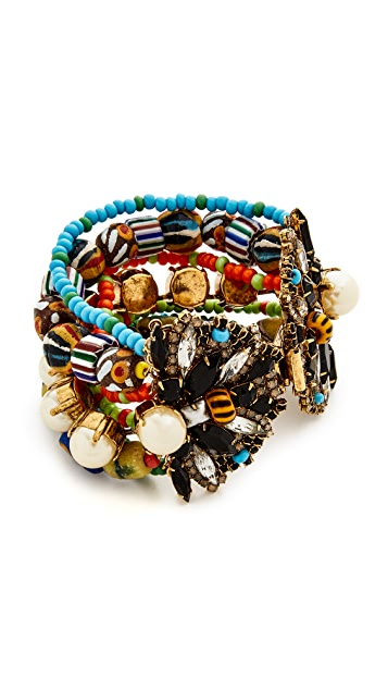 Erickson Beamon Imitation Pearl Safari Bracelet
