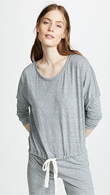 046619d7c3a Eberjey Heather Slouchy Pajama Top ...
