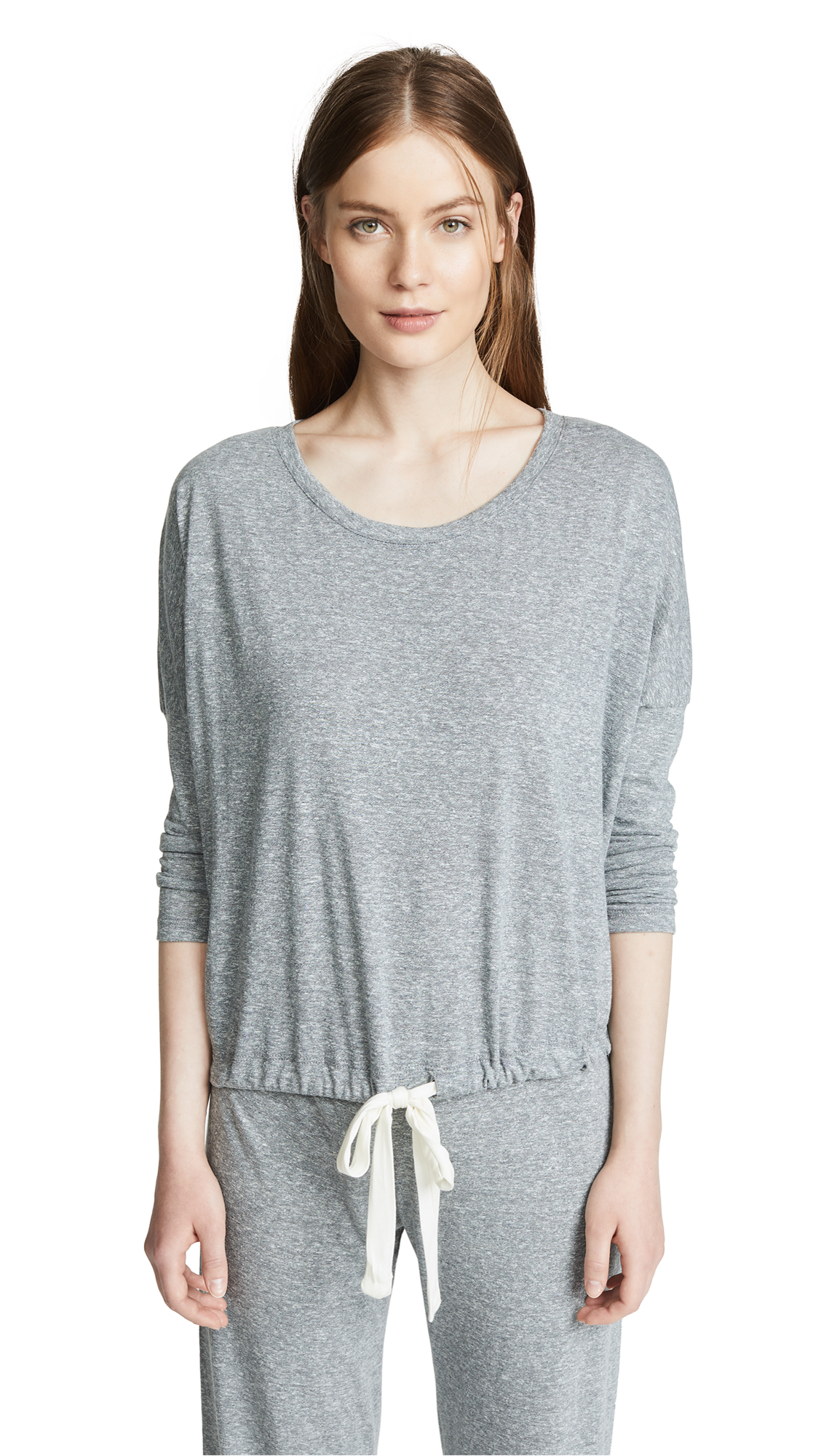 Heather Slouchy Pajama Top