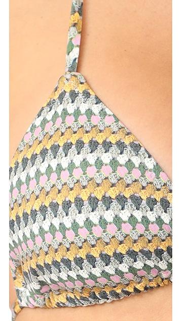 Eberjey Basket Knit Gisele Bikini Top