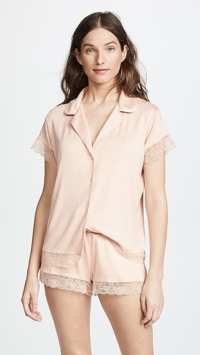 Eberjey Women/'s Malou The Lace Short Pj Set