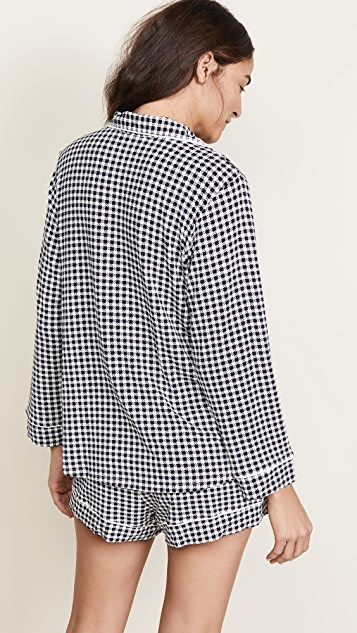 Eberjey Bettina Long Sleeve with Shorts PJ Set