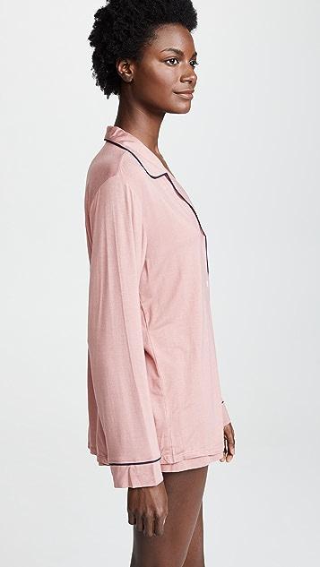 Eberjey Gisele Long Sleeve Short PJ Set