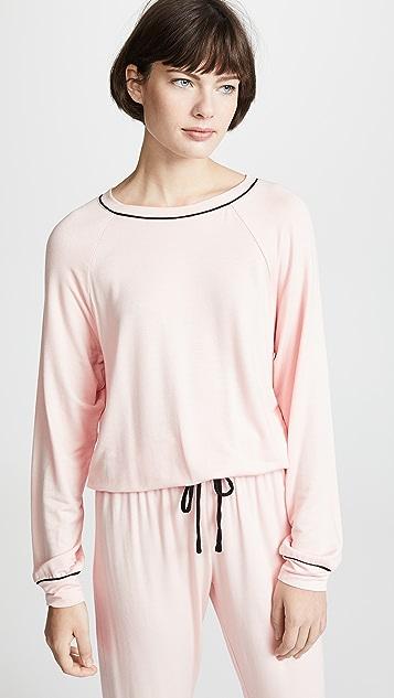 Eberjey Freja Ringer Sweatshirt