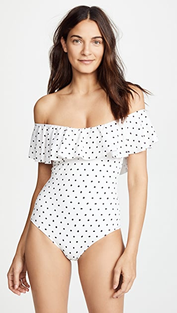 Eberjey Polka Margarita One Piece Swimsuit