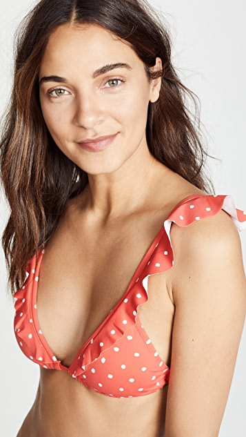 Eberjey Polka Grayson Bikini Top