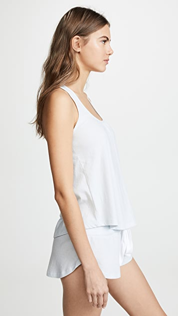 Eberjey Heather Racerback Tank