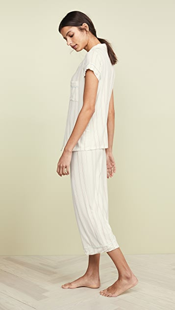 Eberjey Summer Stripes Short Sleeve PJ Set