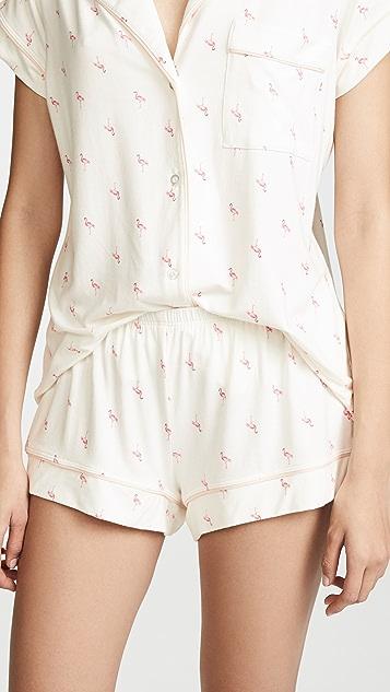 Eberjey Flamingo Shorts PJ Set