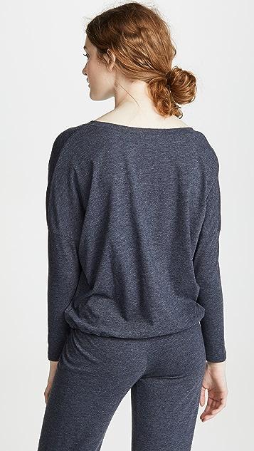 Eberjey Меланжевая футболка с напуском