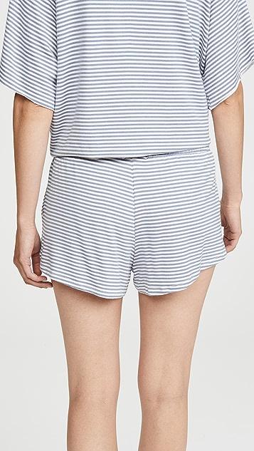 Eberjey Sadie Stripes Sport Shorts