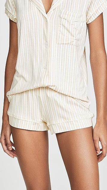 Eberjey Sleepy Stripes Shorts PJ Set