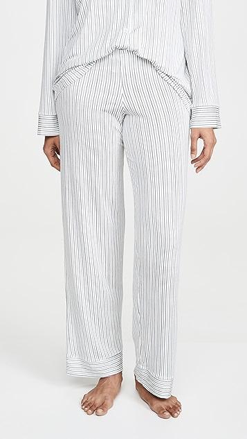 Eberjey 北欧风格条纹传统睡衣套装