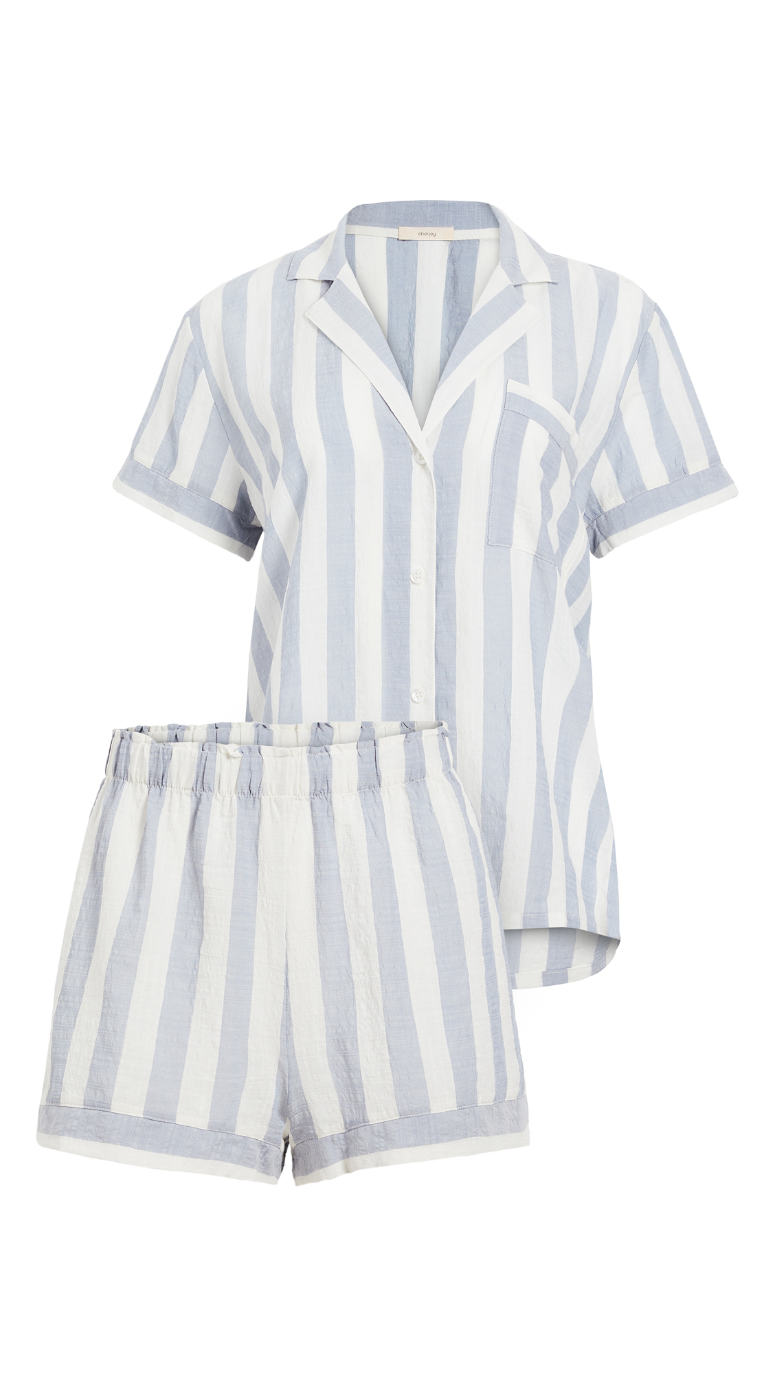 Eberjey Umbrella Stripes Woven Short PJ Set