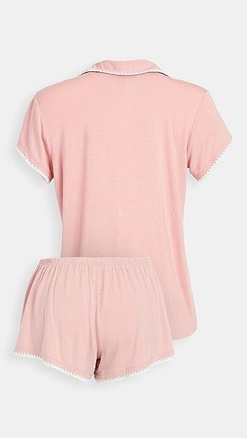 Eberjey Frida Whip Stitch Shorts PJ Set
