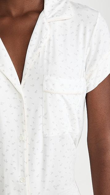 Eberjey Bloom 短袖短款睡衣套装