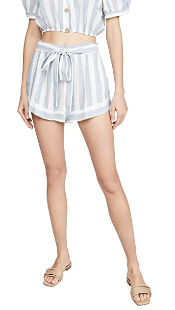 Eberjey Umbrella Stripe Edu Shorts