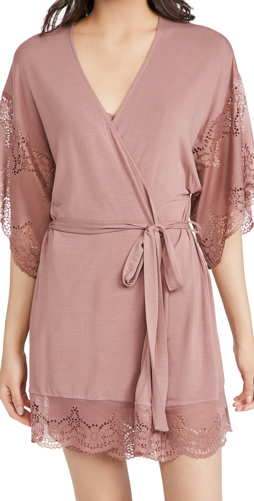 Eberjey Robes BEATRIX THE FULL LACE ROBE