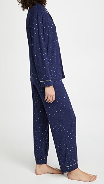 Eberjey Gisele Printed Long PJ Set