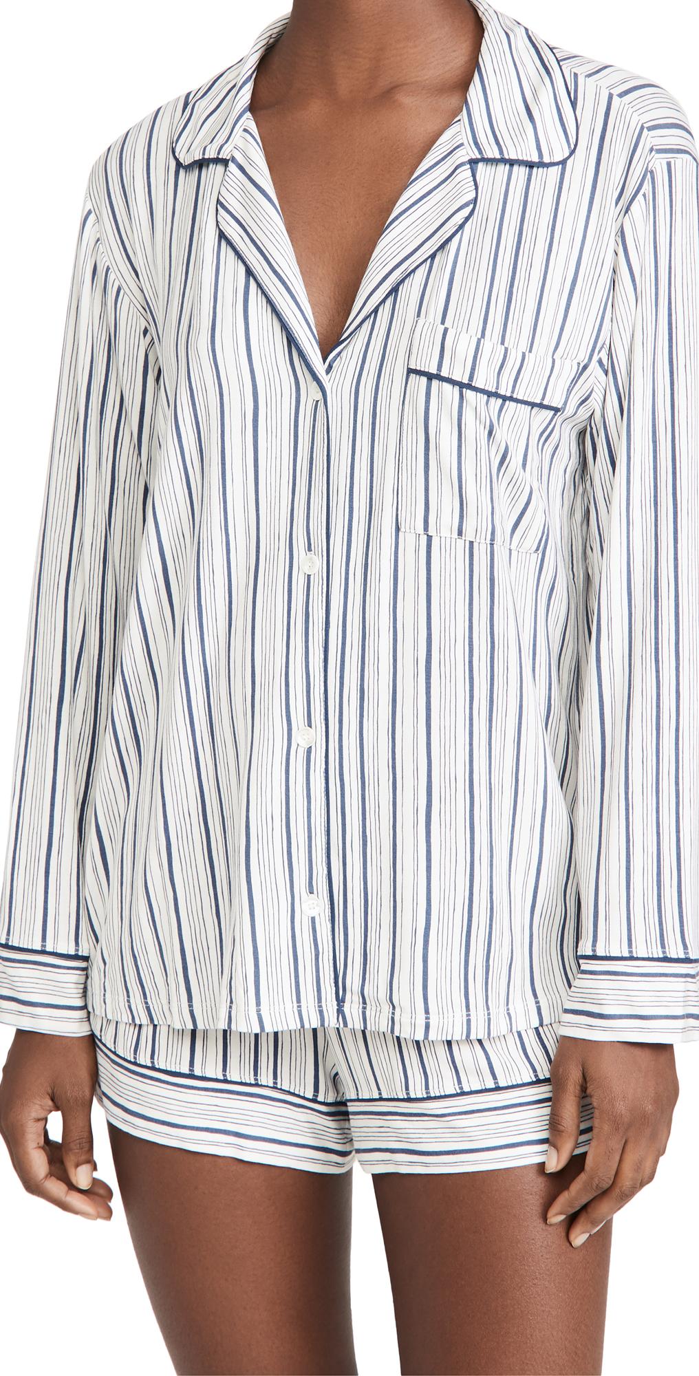 Eberjey Gisele Printed Long Sleeve PJ Set